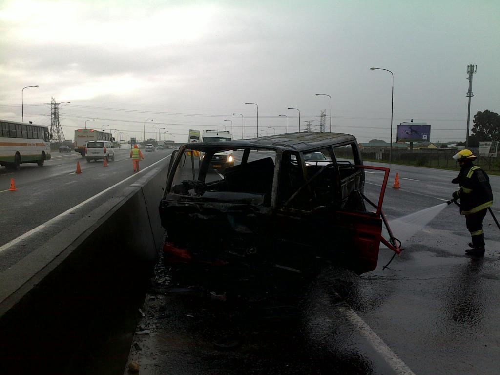 Taxi Crashes and Burns on the N2 Highway