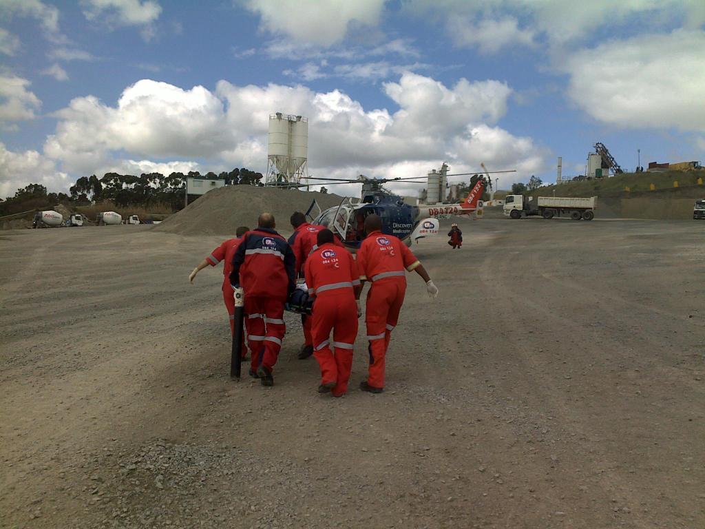 Man Crushed Between two Trucks at quarries in Contermanskloof