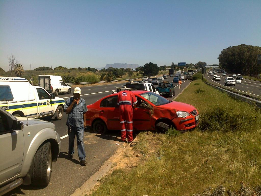 Vehicle overturns on N1 highway near Durban road Off ramp