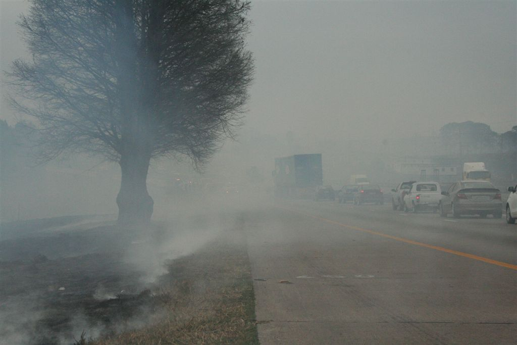 Fire safety warning as bush fire causes accident