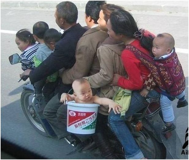 Riding in the bucket is not safe riding as pillion!!