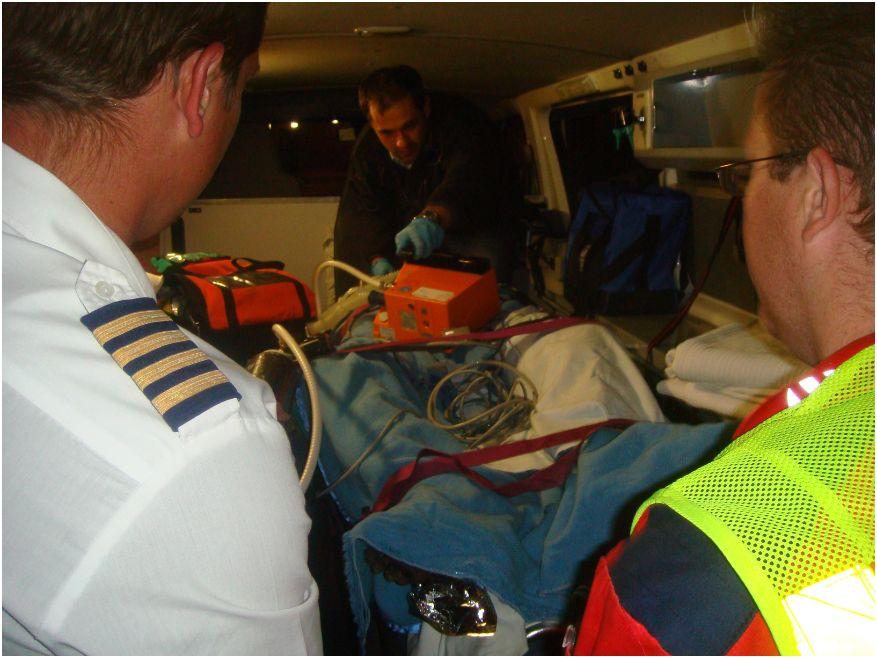 ER24 and Aerocare emergency services evacuate farmer burnt in Bethlehem veld fire