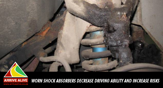 Worn shock absorbers reduce driving ability and increase accident risks