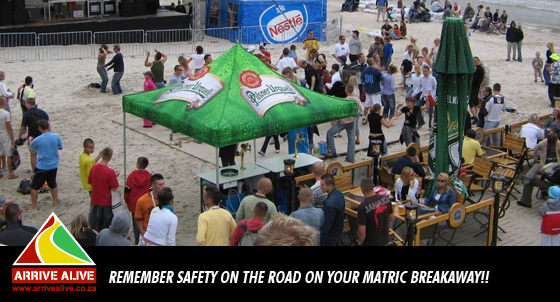 Remember safety on the road on your matric breakaway!!