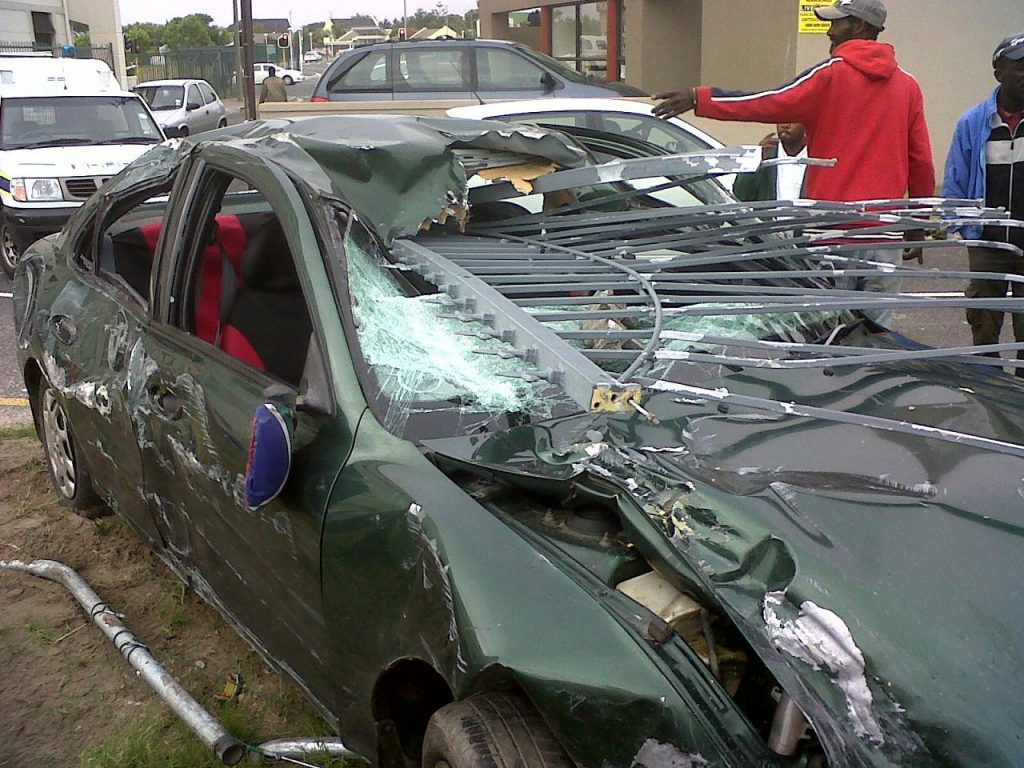 Young Couple Narrowly Escape Serious Injury In Car Accident
