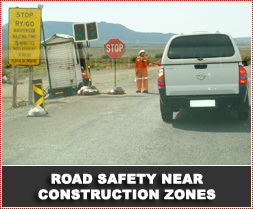 Reduce speed to avoid accidents near road works