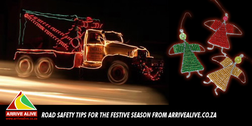 Road Safety Tips for the Festive Season from ArriveAlive.co.za