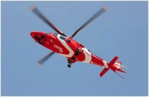 Red Cross AMS helicopter and OFM  to punt road safety at Bloemfontein