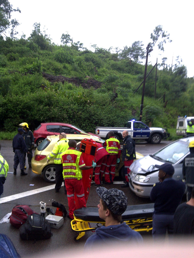 ER24 responds to several accidents in rainy weather