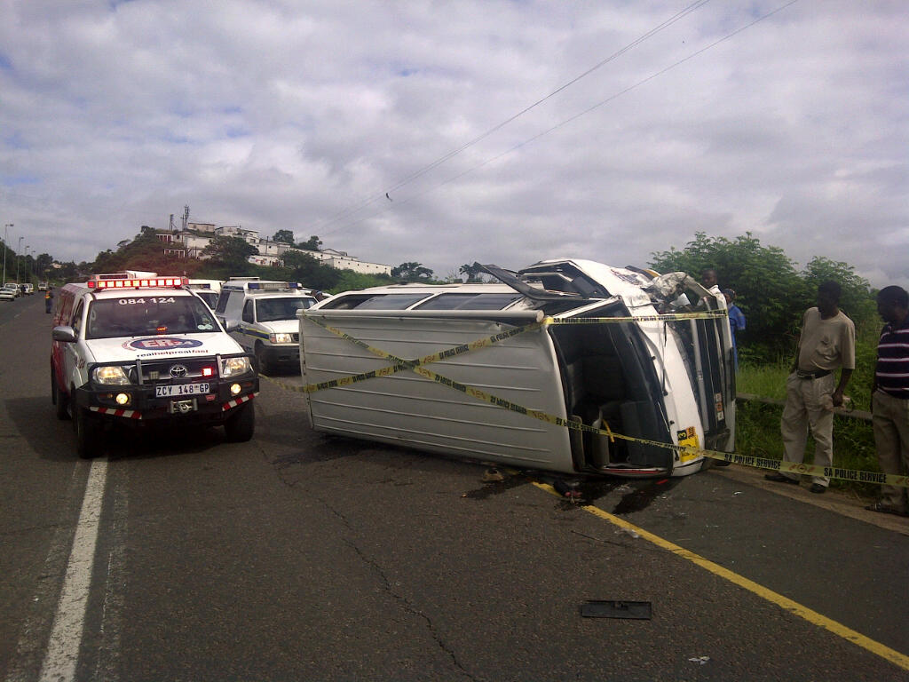 Nineteen Injured In Taxi Accident outside Pinetown