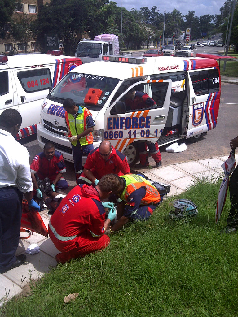 Motor Cyclist Injured In Accident
