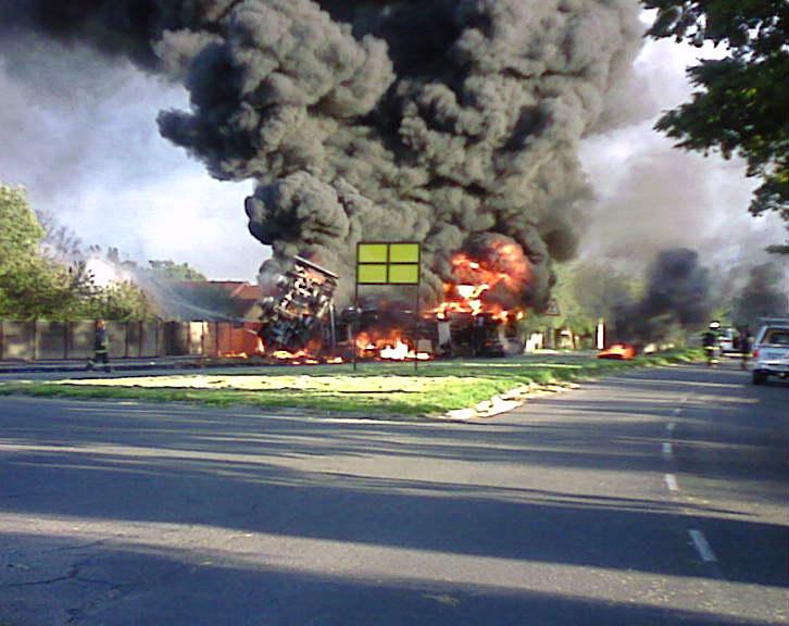 Tanker Up in Flames in Sasolburg