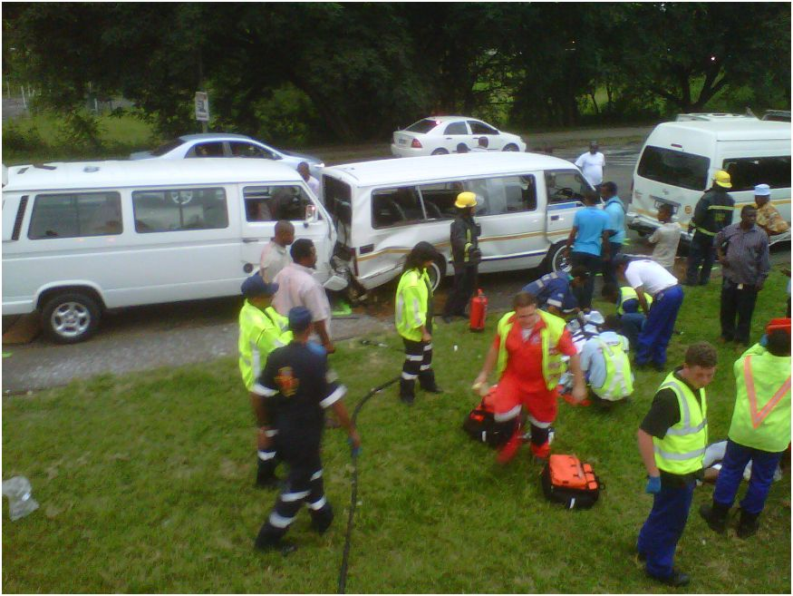 Eighteen Injured In multiple pile-up in Pietermaritzburg