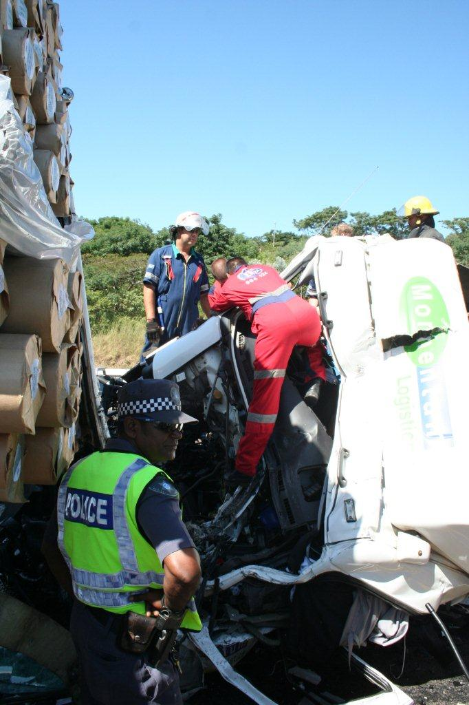 Truck Driver Entrapped Inside Cabin at Spaghetti Junction on N3
