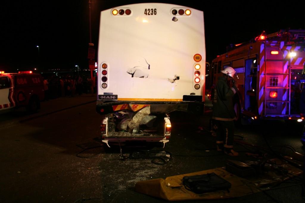 Bakkie Crashes Into Back Of Bus, Killing Two in Umlazi