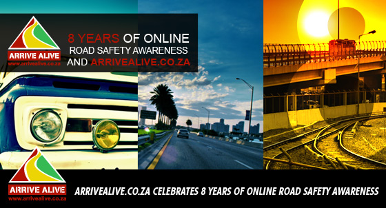 ArriveAlive.co.za road safety website celebrates 8 years