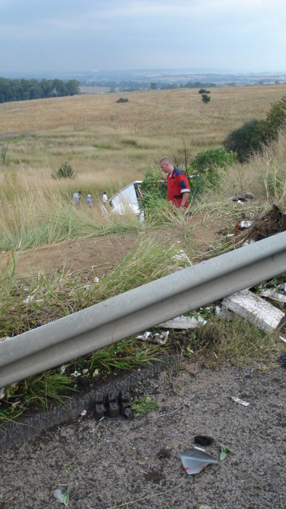 Truck Crashes Down Embankment on N14