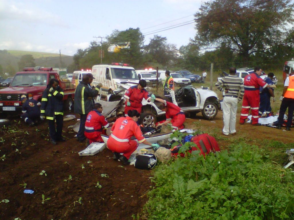 4 Critically Injured as Vehicle Rolls