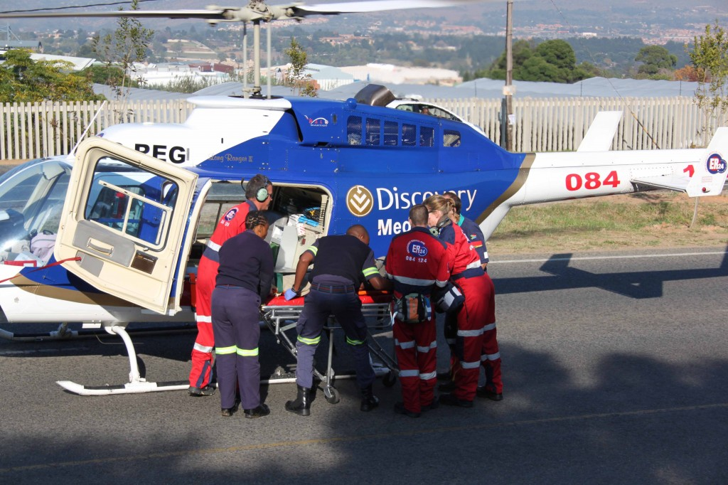 Medicopter Airlifts Critically Injured Pedestrian