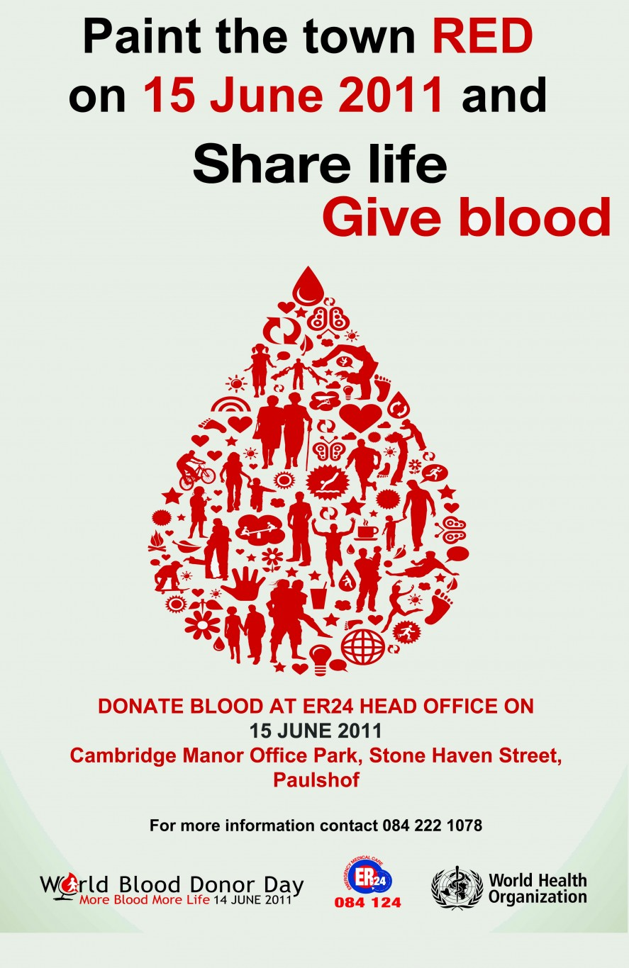 ER24 invites all to Blood Drive on 15 June 2011