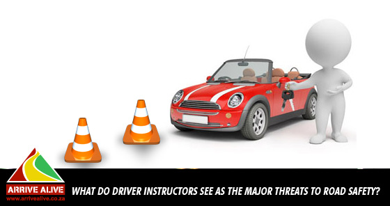 What do driver instructors see as the major threats to road safety?