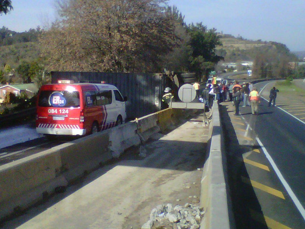 Truck Rolls Blocking the N3