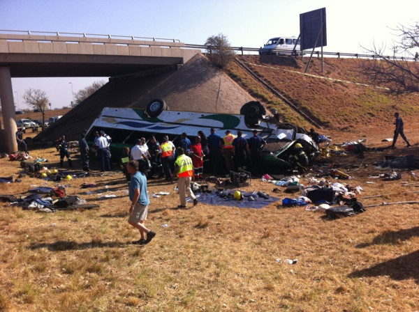 Photos of fatal bus crash on N1