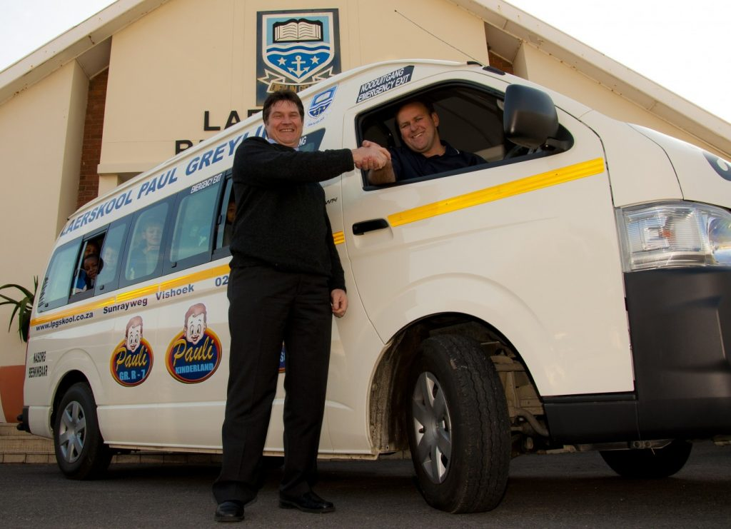 Paul Greyling Primary School joins the School Minibus Driving Campaign