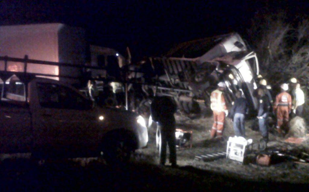 Head-on truck collision near Bloemfontein kills 2
