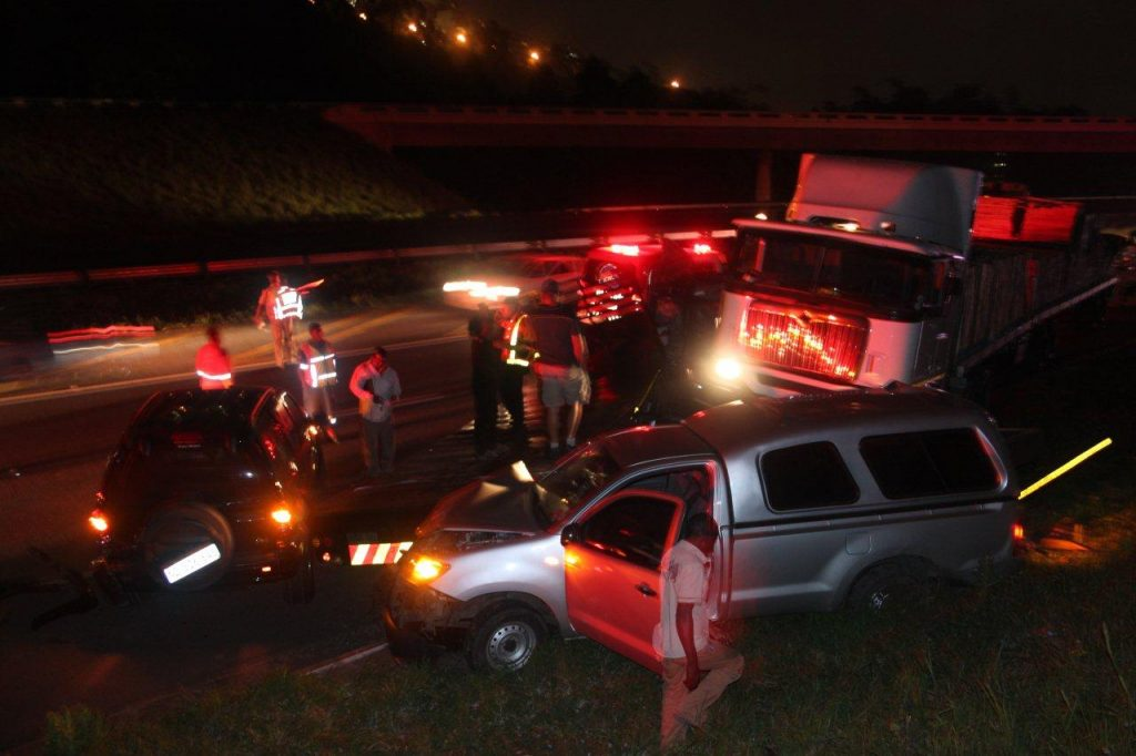 Several survive miraculously from multiple vehicle collision