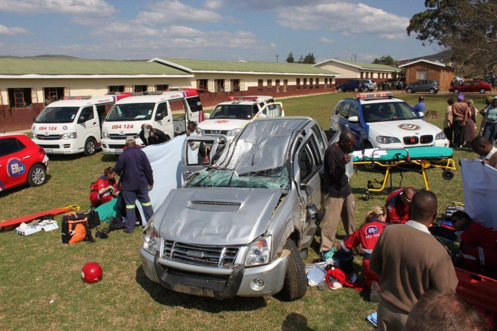 Two People Seriously Injured In Accident on school grounds