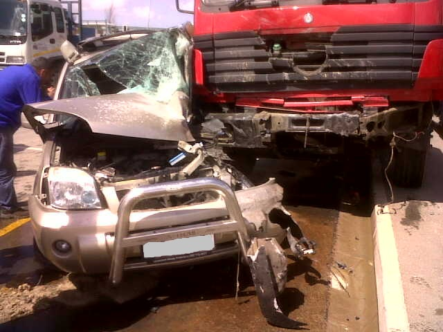 Pregnant mother and Child survive serious collision