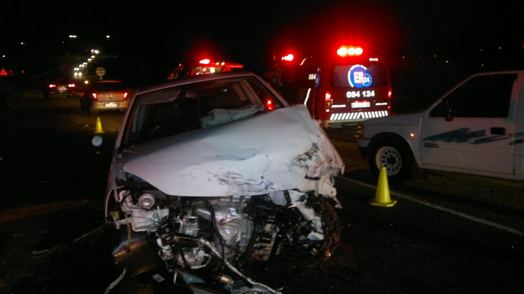 Four Injured In Head on Collision