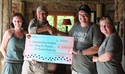 Gabriel Donates to Rhino Foundation
