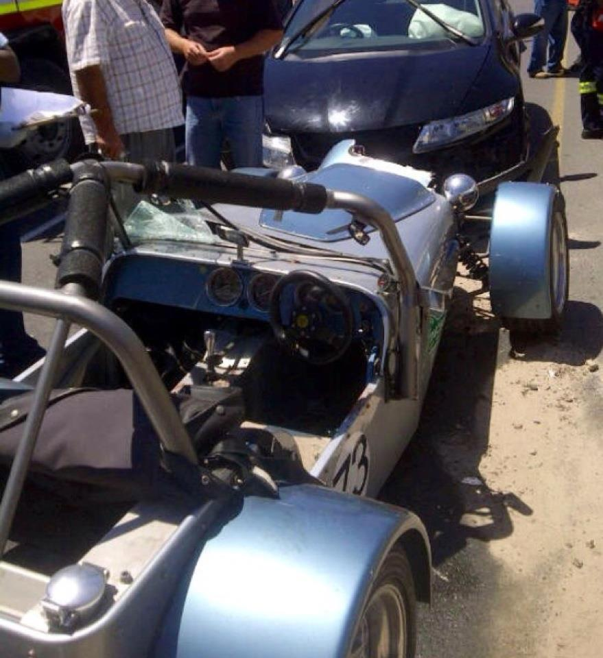 Man critical after head-on collision with vintage Lotus sport car in Melkbosstrand