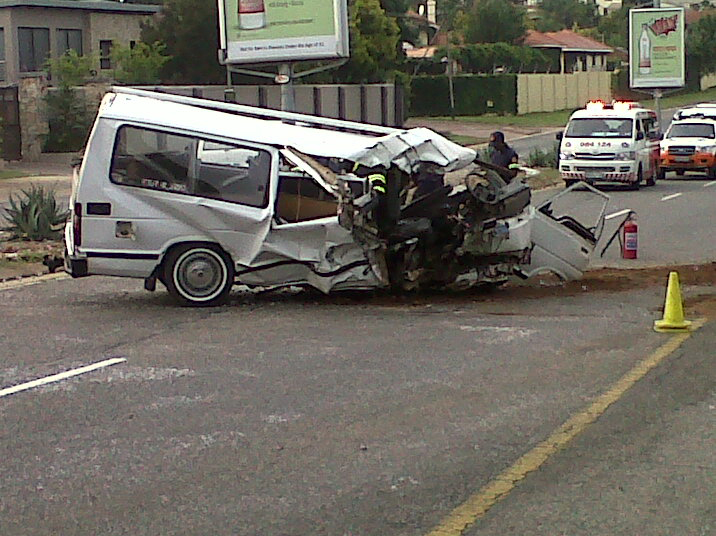 Four injured in Randburg taxi accident