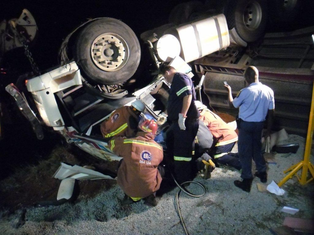 Truck Accident Outside Of Postmasburg