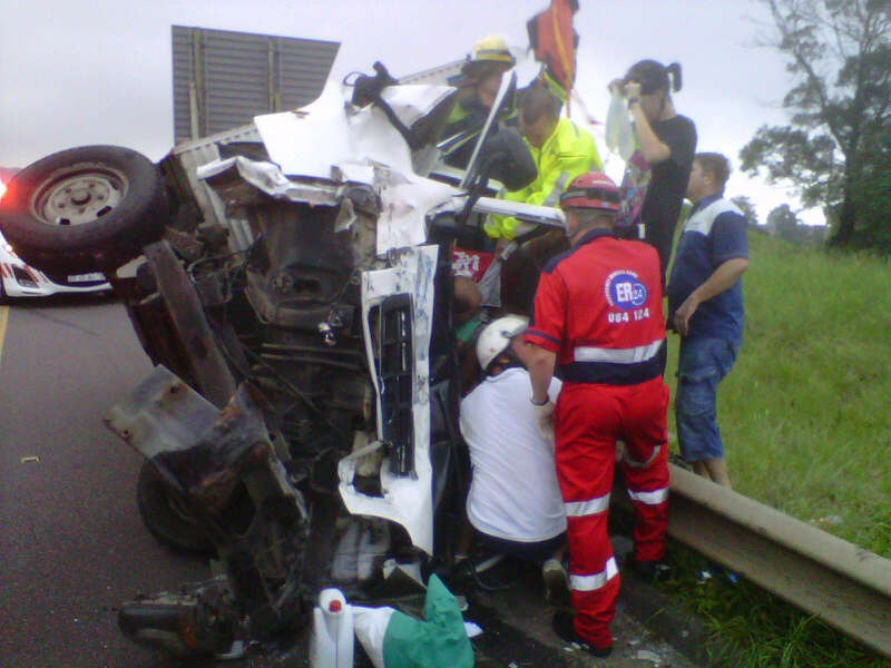 Truck Driver Injured In Accident near the Shongweni on ramp