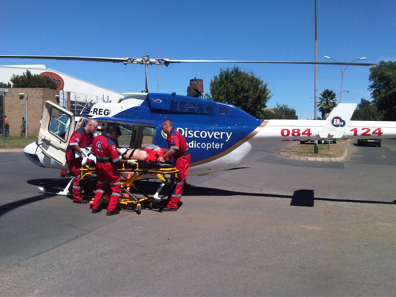 6 year old airlifted after being struck by a car
