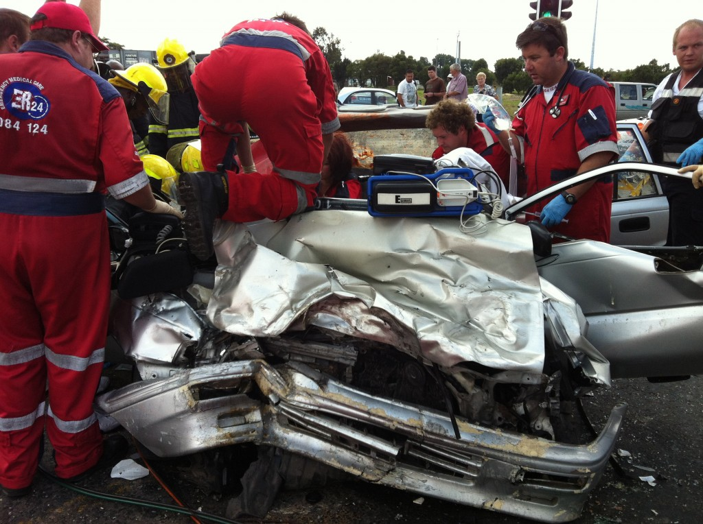 Three seriously injured in Benoni accident