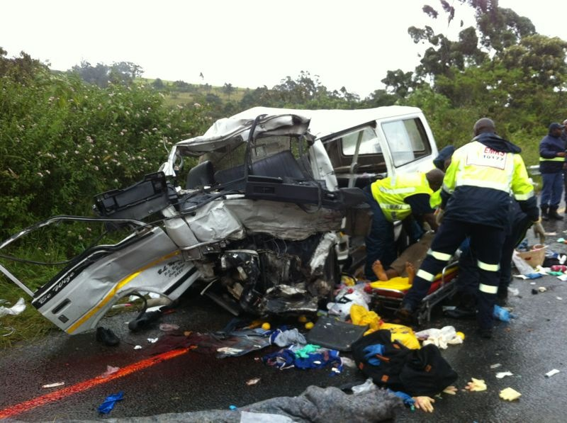 Horrific Crash as Taxis collide at Inchanga Railway Station