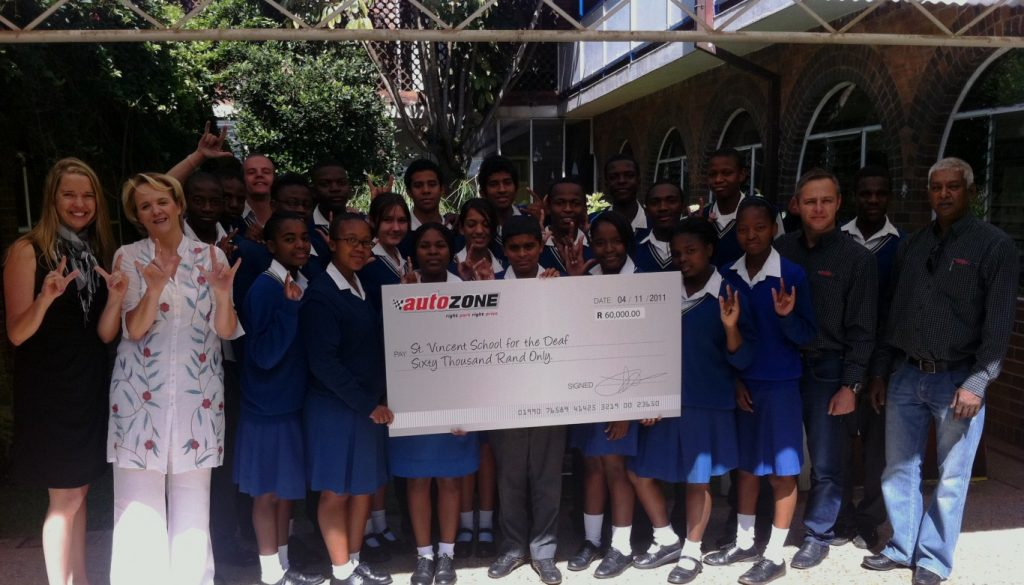 AutoZone Donates R60 000 to St Vincent School for the Deaf