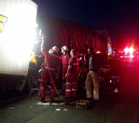 Four injured in R24 truck pileup