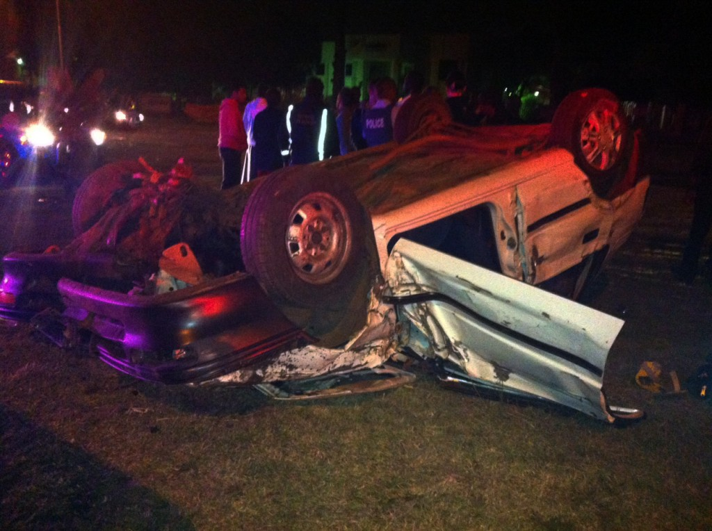 Car rolls in Roodepoort