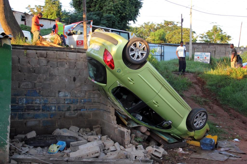Isipingo crash leaves lady seriously injured as vehicle flips