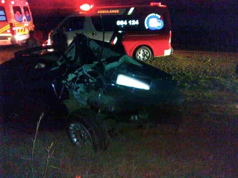 Miraculous escape for driver in collision outside Carltonville