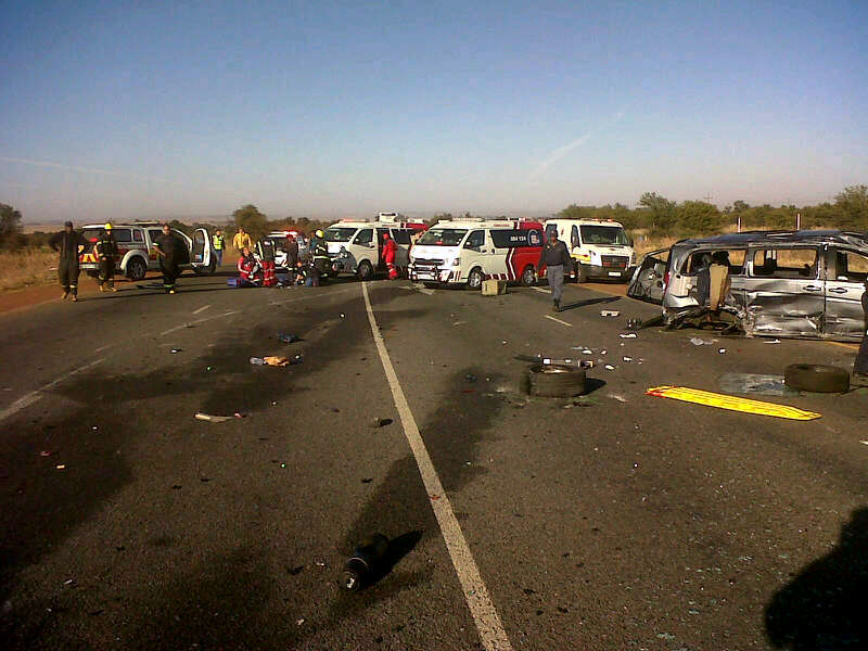 Fatal collision on the N12 at Fochville turn off