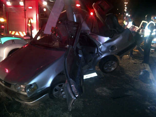 Miracle escape as light pole cuts into car in Bloemfontein crash in Church Street
