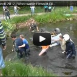 Video captured scene as spectators save rally driver from near drowning