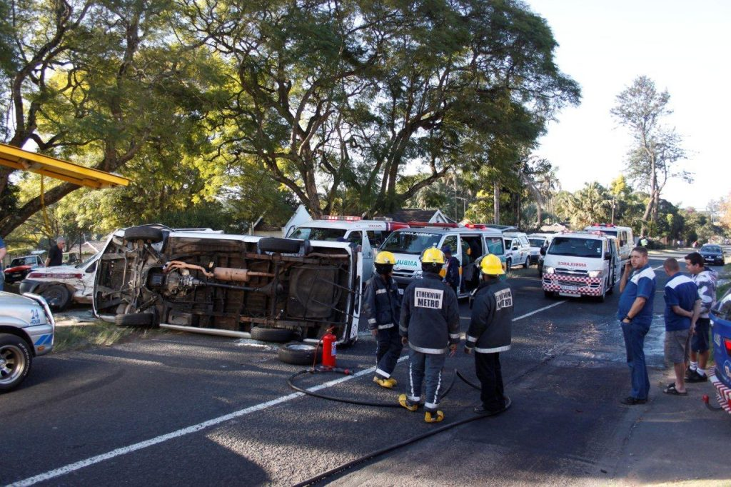 Sixteen Injured In Taxi Accident in Pinetown